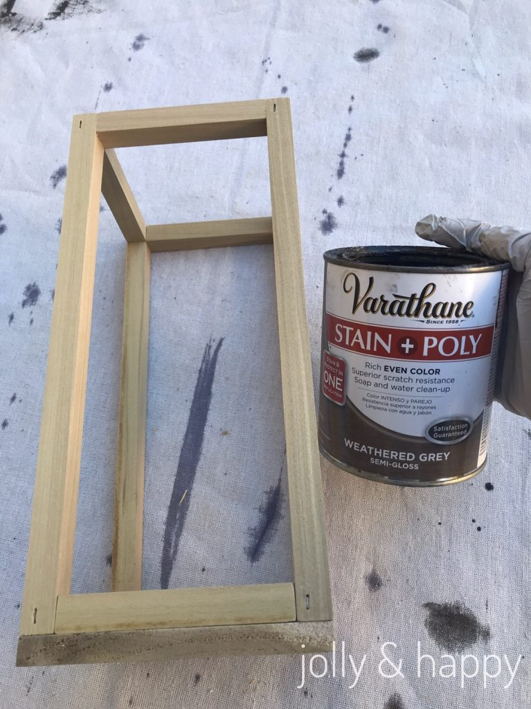 Use a stain and poly in one