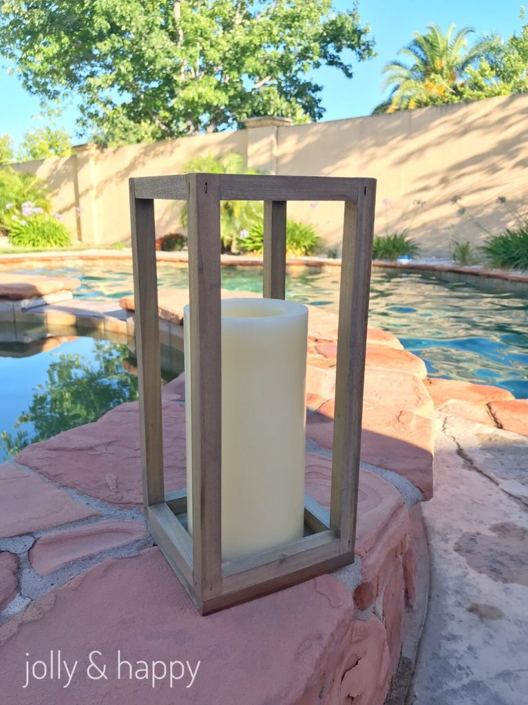 Rustic wood lantern for summer nights DIY
